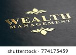 wealth management phrase... | Shutterstock . vector #774175459
