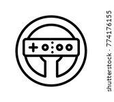 device   wii steering wheel  | Shutterstock .eps vector #774176155