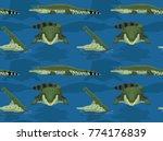 saltwater crocodile cartoon... | Shutterstock .eps vector #774176839