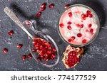 pomegranate and yoghurt | Shutterstock . vector #774177529