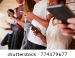 teenage students using digital... | Shutterstock . vector #774179677