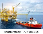 industrial offshore drilling... | Shutterstock . vector #774181315