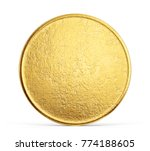 old golden coin isolated on a... | Shutterstock . vector #774188605