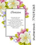 frame of a few flowers. for... | Shutterstock .eps vector #774191365