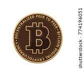 bitcoin coin on white... | Shutterstock .eps vector #774196051