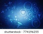 2d illustration medical... | Shutterstock . vector #774196255
