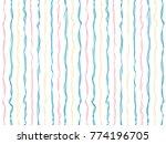 minimal curved stripes vertical ... | Shutterstock .eps vector #774196705