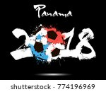 abstract number 2018 and soccer ... | Shutterstock .eps vector #774196969