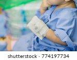 a venous catheter on the hand... | Shutterstock . vector #774197734