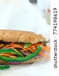 Small photo of vegan sandwich, vegan sandwich