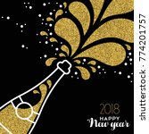 happy new year 2018 greeting... | Shutterstock .eps vector #774201757