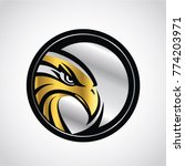 gold silver hawk emblem logo... | Shutterstock .eps vector #774203971