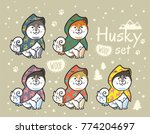 collection of cute siberian...   Shutterstock .eps vector #774204697