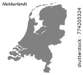 high quality map of netherlands | Shutterstock .eps vector #774205324