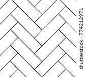 outline vintage wooden floor... | Shutterstock .eps vector #774212971