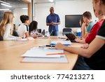 teacher in lesson for college...   Shutterstock . vector #774213271