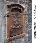 "old italian mail box. ""cassetta ... | Shutterstock . vector #774216967"