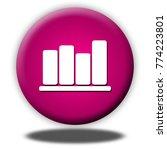 bar chart button isolated  3d... | Shutterstock . vector #774223801