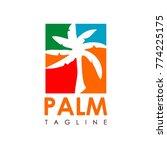 palm vector creative | Shutterstock .eps vector #774225175