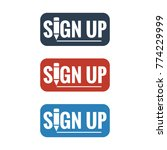 sign up button icons on white...   Shutterstock .eps vector #774229999