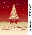 christmas tree of snowflakes ... | Shutterstock .eps vector #774231409