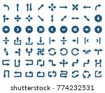 arrow icon set in flat style.  | Shutterstock . vector #774232531