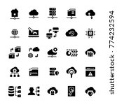 network hosting icon set in... | Shutterstock . vector #774232594