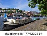 floating harbour in bristol ...   Shutterstock . vector #774232819