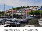 floating harbour in bristol ...   Shutterstock . vector #774232825