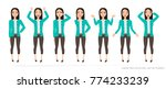 set of emotions and gestures to ... | Shutterstock .eps vector #774233239
