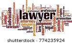 lawyer word cloud concept.... | Shutterstock .eps vector #774235924
