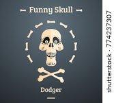 a skull of a cartoon character. ...   Shutterstock . vector #774237307