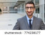 Businessman Wearing Fake Nose...