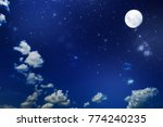 backgrounds night sky with... | Shutterstock . vector #774240235