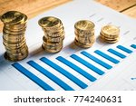 financial service concept with... | Shutterstock . vector #774240631