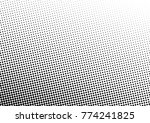 halftone background. black and... | Shutterstock .eps vector #774241825