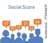 social score concept. stock... | Shutterstock .eps vector #774246679