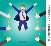 vector illustration business... | Shutterstock .eps vector #774250234