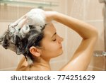 beautiful naked young woman is... | Shutterstock . vector #774251629