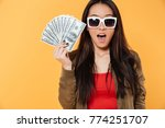 portrait of an excited happy...   Shutterstock . vector #774251707