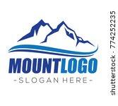 mountain and climbing logo... | Shutterstock .eps vector #774252235