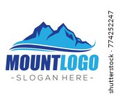 mountain and climbing logo... | Shutterstock .eps vector #774252247