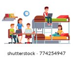 group of student friends man... | Shutterstock .eps vector #774254947