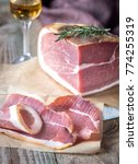 prosciutto with fresh rosemary... | Shutterstock . vector #774255319