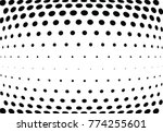 abstract halftone wave dotted...   Shutterstock .eps vector #774255601