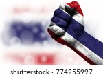 flag of thailand painted on... | Shutterstock . vector #774255997