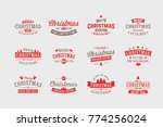 merry christmas holiday year... | Shutterstock .eps vector #774256024