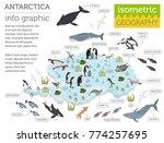 isometric 3d antarctica flora... | Shutterstock .eps vector #774257695