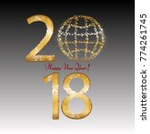 the golden globe. golden stars. ... | Shutterstock .eps vector #774261745