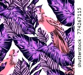 tropical seamless pattern with... | Shutterstock .eps vector #774267115